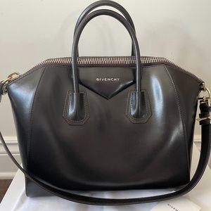 GIVENCHY Dark Brown Medium Antigona Bag